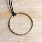 Handmade Brass Edgy Hammered Pendant